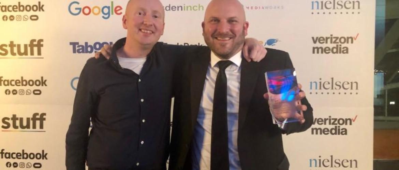 Image from IAB (NZ) Award (Greig Brash and Gavin Male)