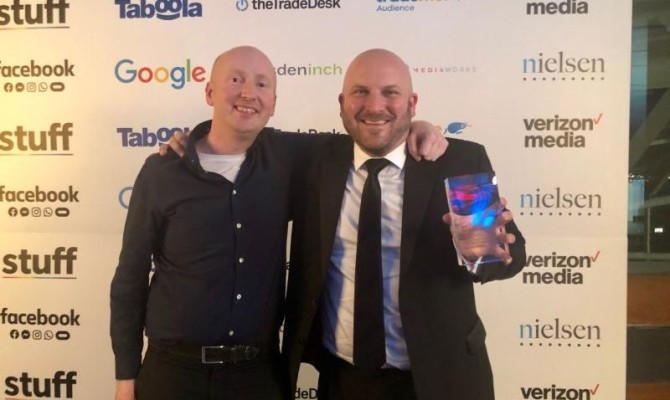 Image from IAB (NZ) Award (Greig Brash and Gavin Male)